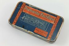 Antique German PROMONTA PASTILLEN HAMBURG Medical Empty Tin Box 1930's