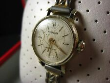 Vintage Swiss Made Westclox Waterproof Ladies Wind Up Watch with a Leather Band