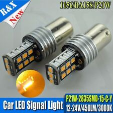 2x BA15S 1156 Amber 15SMD 2835 LED Canbus Bulbs Indicator Turn Signal Front Rear