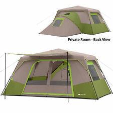 Cabin Tent Instant Camping 11 Person Green Outdoor Family Hiking Travel Shelter