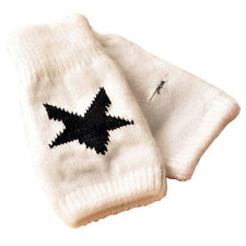 Winter Men Women Fashion Star Knitted Warmer Mittens Fingerless Arm Glove