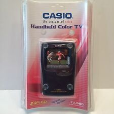 NEW CASIO HANDHELD PORTABLE COLOR TV TELEVISION  2.3 LCD MODEL TV-980 SEALED