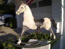"""HAND CRAFTED METAL ROCKING HORSE 36"""" X 26"""", HAND PAINTED MANGALARGA MARCHADOR"""