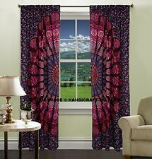 Indian Peacock Mandala Cotton Hippie Tapestry Door Cutain Decor Window Curtains