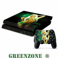 Sexy Weed Girl Vinyl Decal Sticker Set for PS4 Console and 2 Controller