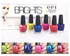 OPI 15 **BRIGHTS** 6 Mini Nail Polish CORE-AL Hotter PINK Sea LEMONS Navy-gation
