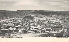 BELLOWS FALLS VERMONT  BIRDS EYE VIEW UDB POSTCARD c1900s
