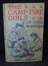 The Camp Fire Girls in The Mountains by Jane L Stewart (1914 Saalfield Pub)