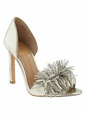 Banana Republic Honey Fringe Pump, Pale gold SIZE 7 M    #183492