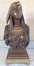 buste bronze égyptienne par Emile Hébert époque 19ème egyptian bust