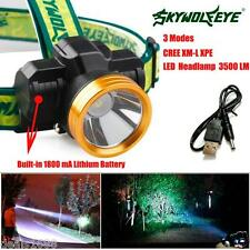 4000LM CREE XPE LED Headlamp Headlight Zoom Linterna Para Cabeza 1800mAh