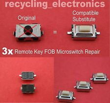 Remote Key Fob Micro Switch for Vauxhall Opel (3 Switches )