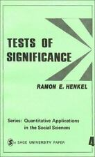 Tests of Significance (Quantitative Applications in the Social Science-ExLibrary