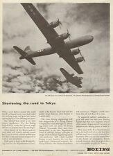 1943 WW 2 Ad   New Boeing B-29 Superfort  flying next to B-17 Fortress 031615