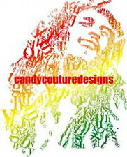 20  WATER SLIDE NAIL  ART TRANSFERS DECALS BOB MARLEY  5/8 INCH