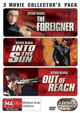 STEVEN SEAGAL The Foreigner / In The Sun / Out Of Reach DVD - R4