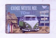 Come With Me To The Sea Retro Metal Sign Bar Home Wall Decor Art Indoor Outdoor