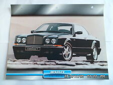 CARTE FICHE VOITURES D'EXCEPTION BENTLEY CONTINENTAL T