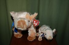 KNUCKLES the PIG - Farm Animal - Ty Beanie Baby & BUDDY - MWMT  -  Too Cute