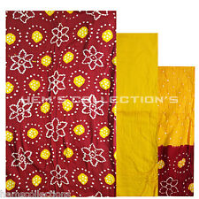 Bandhani Cotton Silk Unstiched Dress Material Salwar, Suit, Dupatta for Women's