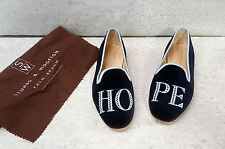Stubbs & Wootton embroidered flat loafer shoes sz 6 B PRISTINE