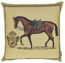 "NEW 18"" 45CM HORSE/EQUESTRIAN SERIES, SADDLE CLUB TAPESTRY CUSHION COVER 4922"