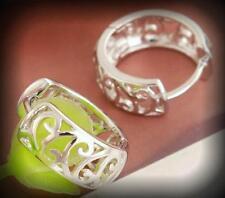 Gorgeous intricate Koru New Life Design Hoop Filigree Earrings - Nickel Free