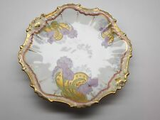 B & H Limoges France Plate with Iris