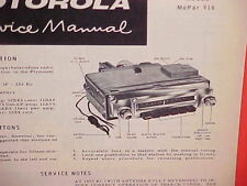 1956 PLYMOUTH BELVEDERE CONVERTIBLE FURY SAVOY MOTOROLA AM RADIO SERVICE MANUAL