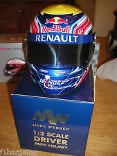 Mark Webber Red Bull Racing F1 1/2 scale helmet  Very Rare !