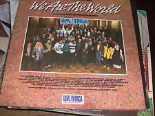 """LP 12"""" WE ARE THE WORLD USA FOR AFRICA MICHAEL JACKSON SPRINGSTEEN G/FOLD N/MINT"""