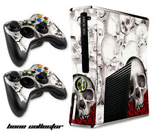 Skin Decal Wrap for Xbox 360 Slim Gaming Console & Controller Xbox360 Slim BC W