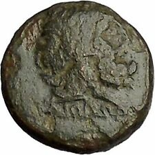 PERGAMON in MYSIA 150BC Asclepius & Medcine Symbol Snake Staff Greek Coin i52007