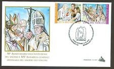 Vatican City Sc# 1596-7, Synod of Bishops, First Day Cover