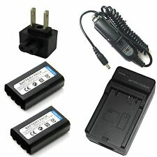 Charger + 2x Battery Pack for Nikon EN-EL1 25196 EH-21 MH-52 MH-53 MH-53C Camera