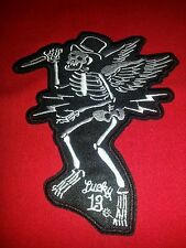 Boney McStabby 6'' by 5'' Lucky 13 Skeleton Patch, FREE SHIPPING