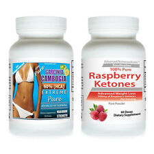 2 GARCINIA CAMBOGIA EXTRACT EXTREME HCA + RASPBERRY KETONE KEYTONES WEIGHT LOSS