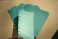 9 Shimmery Aqua blue Filofax Personal Kate Spade size dividers top tab Tabbed
