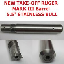 "NEW TAKE-OFF Ruger Stainless 5.5"" BULL BARREL for Mark MK 1 2 3 I II III  22/45"