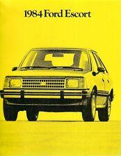 Ford Escort 1984 USA Market Sales Brochure L GL LX GT Turbo
