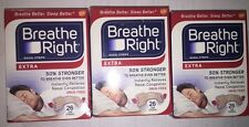 (3) BREATHE RIGHT NASAL STRIPS EXTRA 50 % STRONGER SNORE 26CT TAN (78 STRIPS)