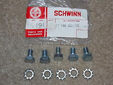 NOS Schwinn Addicks bolt set # 56191 Bmx crank sprocket chainring bicycle bike