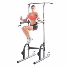 Power Tower Multi-Station Push Pull Up Chin Dip Bar Exercise Home Gym Workout