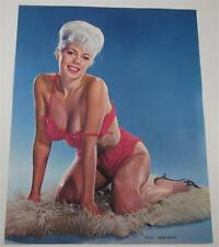 HOW NICE PLATINUM BLOND LENGERIE 1965 SALESMAN SAMPLE PHOTO CALENDAR PIN-UP