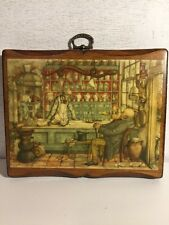 "ANTON PIECK ""GENERAL STORE"" WOODEN PICTURE 6""X6-5/8"" PLAQUE"