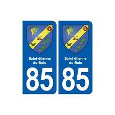 85 Saint-étienne-du-Bois  blason autocollant plaque stickers ville arrondis