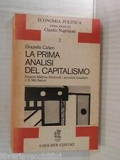 LA PRIMA ANALISI DEL CAPITALISMO Ricardo Malthus Sismondi Loescher G Cafaro 1978