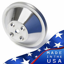 Polished Billet Aluminum Small Block Chevy Water Pump Pulley 1V LWP SBC 350 327