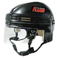 CALGARY FLAMES Black Mini Hockey Helmet