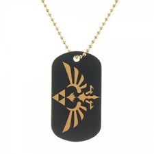 Official Nintendo LEGEND OF ZELDA ~SKYWARD SWORD Triforce DOG TAGS Necklace MENS